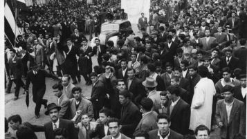 Demonstration in support of Iranian leader Premier Mohammed Mossadegh in 1952