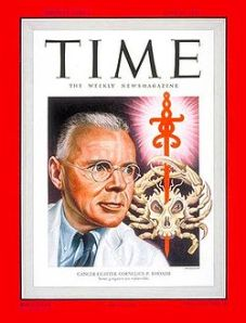 Cornelius P. Rhoads on the cover of Time magazine, June 27, 1948
