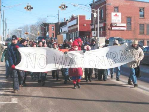 March in Sackville, NB