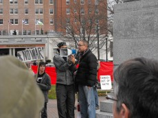 2009.HISF Rally.ISaac Saney speaks
