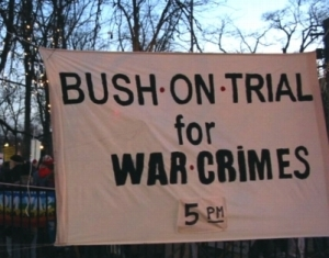 Halifax, December 1, 2004: Mass protest against visit of war criminal George W. Bush.