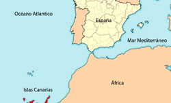 Map Canary Islands And Africa | Jackenjuul