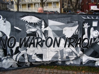 2009.HISF Rally.Guernica banner