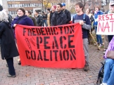 2009.HISF Rally.Fredericton Peace Coalition