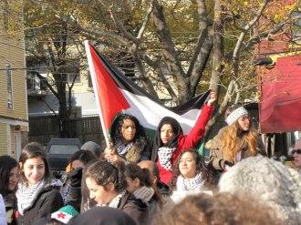 2012.11.17.Halifax.Two girls v Pal flag