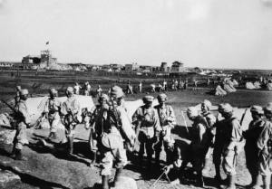 Syrian soldiers at at the battle of Maysalun, 1920