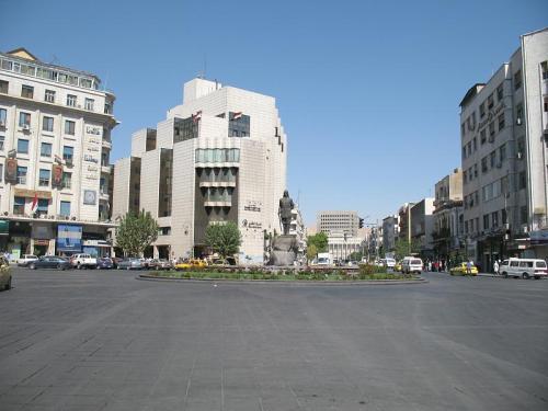 Yusuf al-Azma Square in central Damascus (Click to enlarge)
