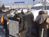 Protest against the deployment to the Persian Gulf of the HMCS Iroquois, Halifax, on February 24, 2003