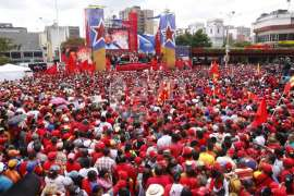 Mass rally on March 11, 2013 at the nomination for Nicolás Maduro as the presidential candidate for the United Socialist Party of Venezuela.