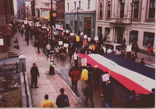 On Saturday, March 22, over 3,000 people in Halifax again demonstrated against the war on Iraq in open sympathy with the Iraqi people