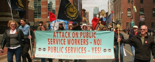 Defend Public Services and the Workers Who Provide Them, Halifax May Day 2012