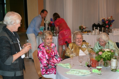With friends this spring.  Peggy, Tish Edinborough and Adele Deacon shared a friendship lasting over 50 years.