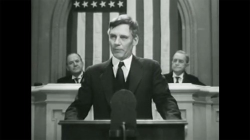 'Gabriel Over the White House' The Nazis thought this 1933 MGM film about a fascist becoming president of the United States worked as propaganda since the story is essentially an American version of Hitler's rise to power. In this clip, the president dissolves Congress to assume dictatorial powers. The film was not far from the mark; in the 1930s a fascist plot was being organized in the USA against the FDR administration by big capital. Exposed by retired Mrine Corps Major General Smedley Butler, it is detailed in numerous accounts, such as Jules Archer's The Plot to Seize the White House.
