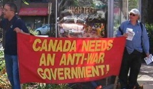No Harbour for War demonstration in Halifax against imperialist intervention  in Syria, September 22, 2013