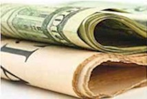 Dollars:newspaper