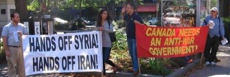 Haligonians rally against threats of war against Syria, September 7, 2013