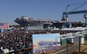 2013.USS Gerald Ford launch
