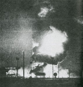 Sabotage of the Sasolberg oil refinery by Umkhonto we Sizwe, June 1980.