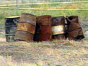 Used barrels of toxic herbicides | Radio Canada archive