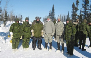U.S. Consul General Peter O'Donohue travelled to Chisasibi with Colonel Jean-Marc Lanthier, Commander of the 5th Canadian Mechanized Brigade Group, to observe annual winter warfare training, EXERCISE GUERRIER NORDIQUE 2011, by Canadian Forces first hand. Local Canadian troops were joined by U.S. Army and Polish Land Forces at La Grande, in Northern Quebec. The training exercise, led by Lieutenant-Colonel Jean-François Bertrand, brought together some 500 soldiers from the 35 Canadian Brigade Group based in Valcartier, U.S. National Guard soldiers from states bordering Canada (Maine and Minnesota), and a dozen Polish Land Forces.