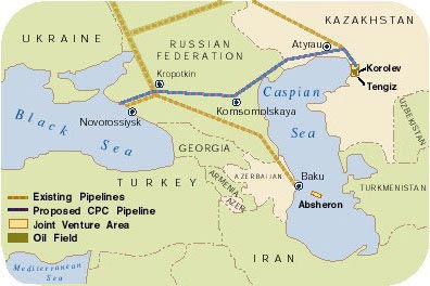 Russian port of Novorossiysk is also a strategic terminal for the Caspian pipeline