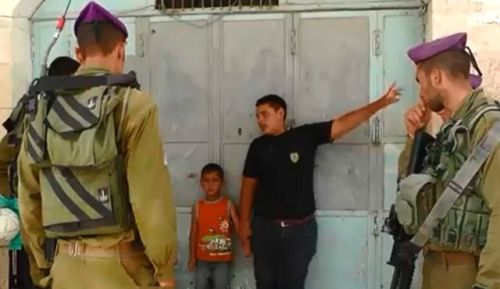 Screenshot of a B'Tselem video