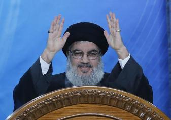 Hezbollah Secretary General Sayyed Hassan Nasrallah during a speech he delivered in Beirut's southern suburbs on July 25, 2014 | Haitham Moussawi