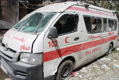 Israel's indiscriminate attacks on Shujaiya July 20th also targeted ambulances | Joe Catron