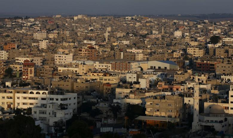 A general view of the eastern part of the Gaza Strip from Gaza City, on July 10, 2014 | AFP-Thomas Coex