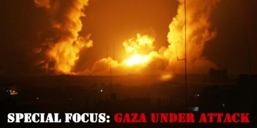 Gaza Under Attack Banner