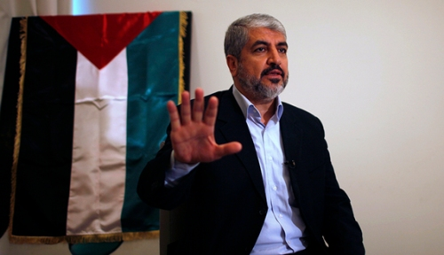 Hamas leader Khaled Meshaal talks during an interview in Doha, Nov. 29, 2012. (photo by REUTERS/Ahmed Jadallah)