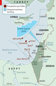 The US official Geological Survey estimates that from Gaza's coast to southern Turkey the eastern Mediterranean holds 122 trillion cubic feet of gas, comparable to the reserves of Iraq.