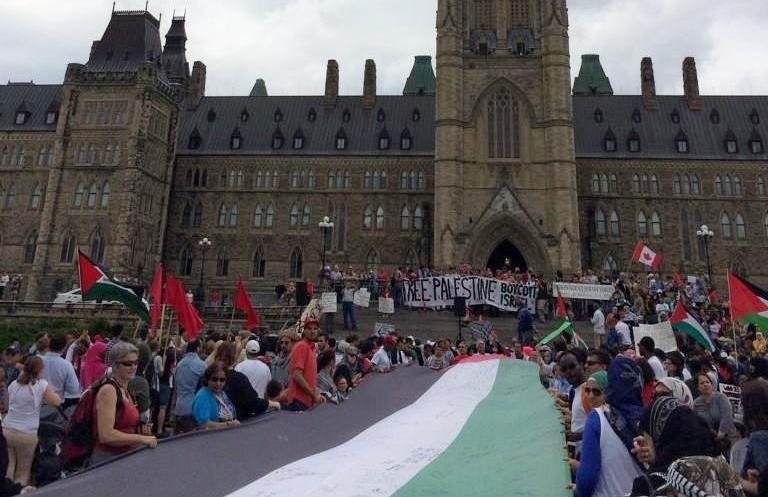 Demonstration in Ottawa at the Canadian parliament, July 26, 2014