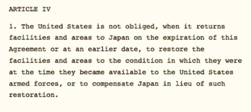 Article 4 of the US-Japan Status of Forces Agreement