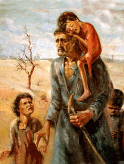 """""""To Where...?"""" Painting by Ismail Shammout, 1953"""