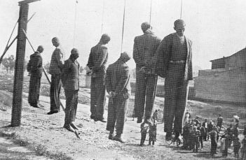 Collective punishment for opposing the Nazi occupation took the form of public hangings, mass executions and other crimes against the Polish people | Wikipedia