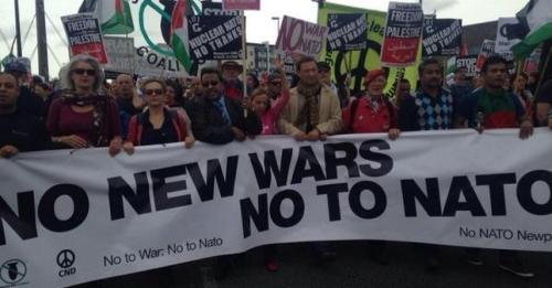 #NoToNato: Protest against Nato summit in Newport | Photo via Twitter/ Robin Monotti @robinmonotti