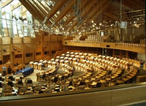 Debating chamber of the Socttish parliament