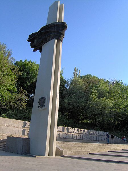 Monument to Polish partisans and German anti-fascist fighters in Berlin.