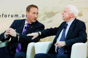 MacKay and McCain at the HISF