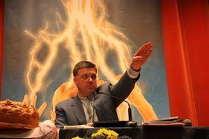 neo-Nazi Svoboda party Oleh Tyahnybok.