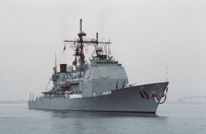 USS Vincennes returns to San Diego October 1988