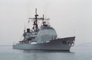 USS Vincennes returns to San Diego October 1988