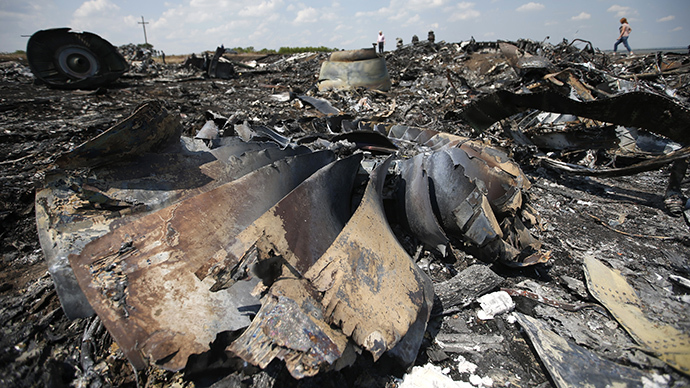 People walk near the wreckage of Malaysia Airlines MH17 that crashed near Hrabove (Grabovo) in the Donetsk region July 23, 2014 |Reuters / Maxim Zmeyev