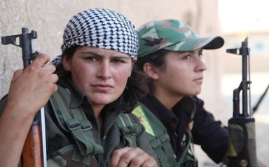 Syrin YPG fighters in Tel Kocer. Photo- AP