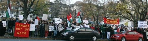 Demonstration against fourth Halifax International Security Forum, November 17, 2012 | Halifax Media Co-op