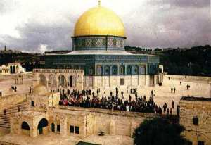 The Dome of the Rock Mosque (above) and the al-Aqsa Mosque are an integral part of the Noble Sanctuary in Jerusalem, considered third holiest site of Islam. and the object of attack of today's Zionists. The media depicts the struggle over al-Aqsa as a Palestinian-Israeli conflict, when in fact it is a Muslim-Zionist conflict, as both mosques are of the utmost sacredness and symbolic regard to Muslims across the world.