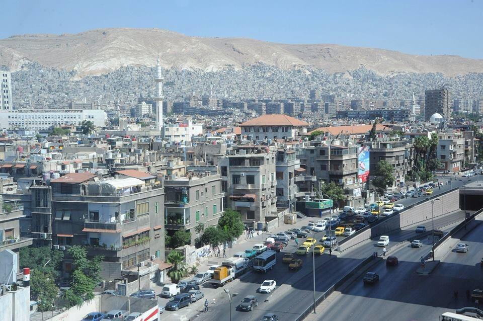 From the Jasmine city of Damascus (Dimashq) today (Click to nlarge)