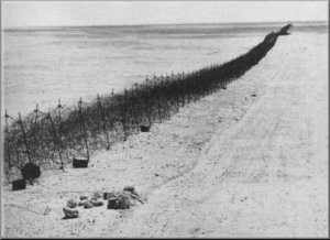 Italian colonists built wall through desert to isolate the Libyan Resistance during the 1930s