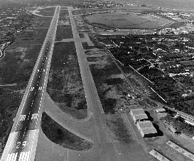 U.S. Wheelus Air Force base in the 1950s. The base was originally built by the Italian Air Force in 1923 near Tripoli, the  Mellaha Air Base, and used by the German Hitlerites in WWII. Captured by the British in 1943, it was relinquished to the USA in 1945 and subsequently became a nuclear base.